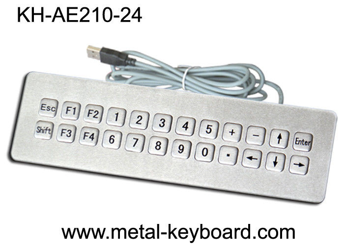 IP65 Rated waterproof computer keyboard , water resistant keyboard 24 Keys
