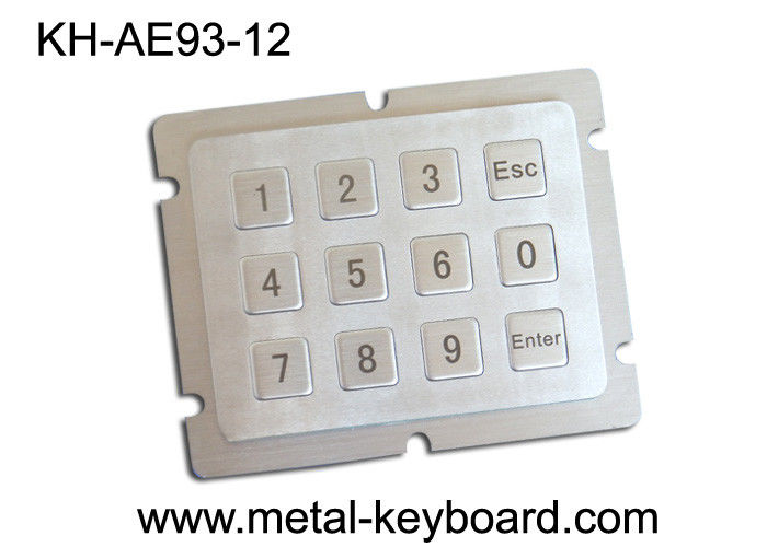 Vandal Proof Numeric Metal Keypad with 12 Keys in 4 X 3 Matrix for Boarding Kiosk