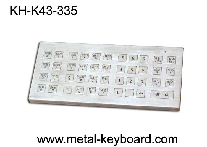 IP65 Rated Desktop Metallic Ruggedized keyboard metal with 43 Super Size Keys