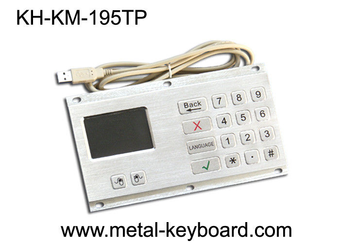 Anti - Vandal Industrial Keyboard with Touchpad Stainless Steel Material