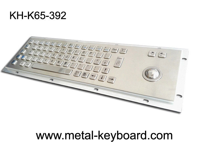 Anti - corrosive Access Kiosk trackball keyboard , metal keyboard with trackball 38MM