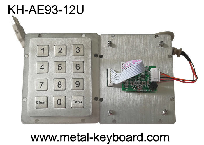 Rear Panel Mount Access Control Keypad USB Connector 12 Flat Buttons CE Approval