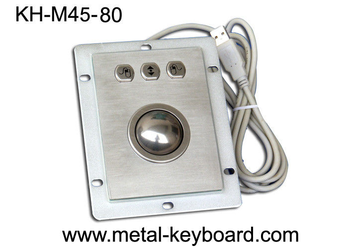 Waterproof Kiosk Trackball Pointing Device with 38MM Stainless Steel Trackball