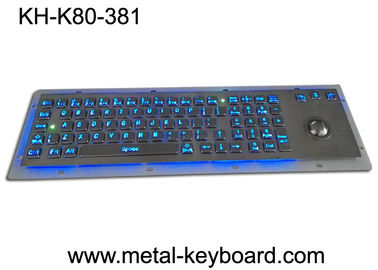 Ruw Backlit Metaaltoetsenbord met Ergonomieontwerp Trackbal, USB-interface